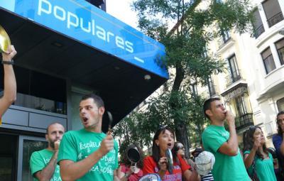 El 69% de los profesores de Madrid secunda la huelga en la enseñanza pública