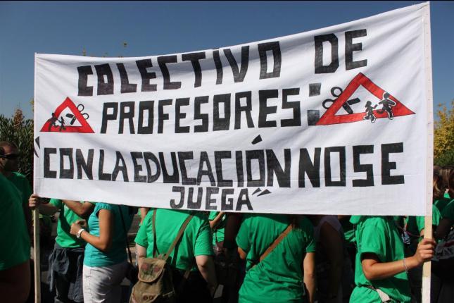 La marea verde extiende la protesta a Castilla-La Mancha