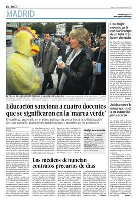 Educación de Madrid, impotente ante el alcance de las protestas